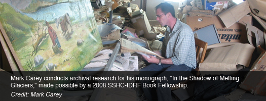 Mark Carey conducts archival research for his monograph