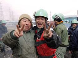Workers Smiling